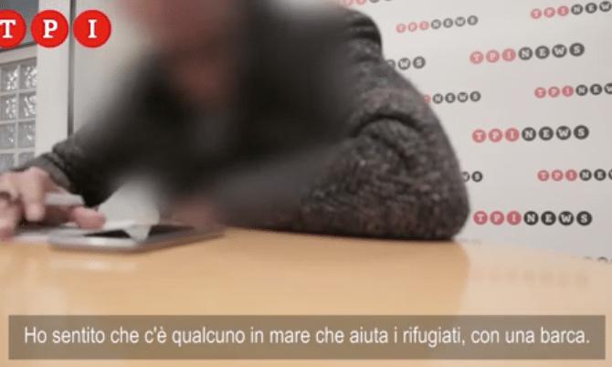 migranti scafista libico audio