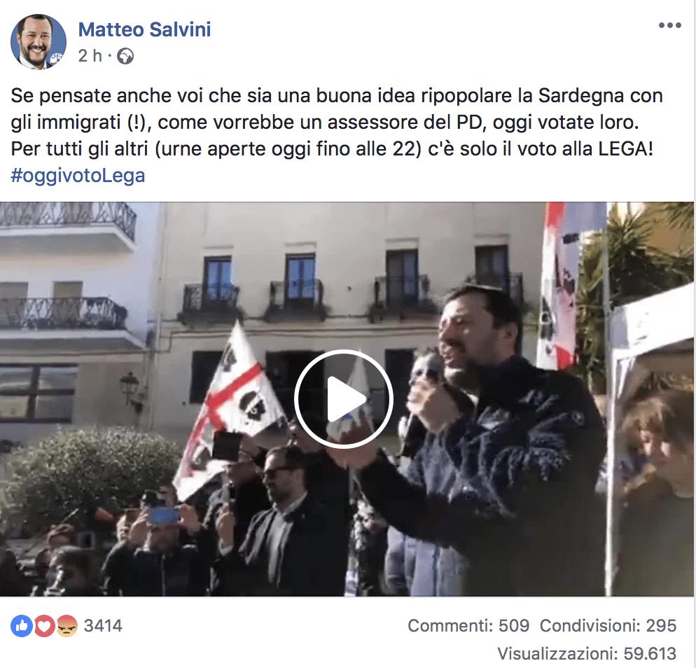 elezioni sardegna sardini violato silenzio elettorale
