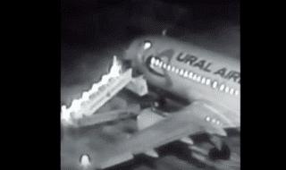scaletta aereo si spezza video