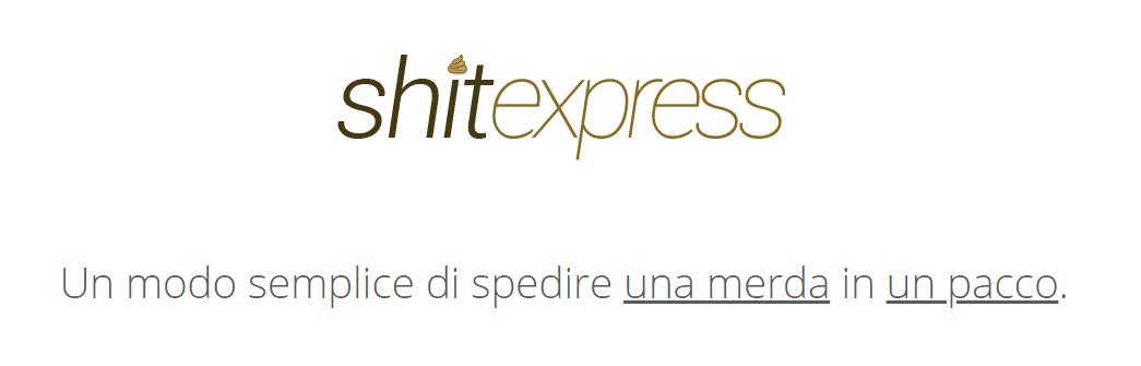 shitexpress sito per spedire cacca