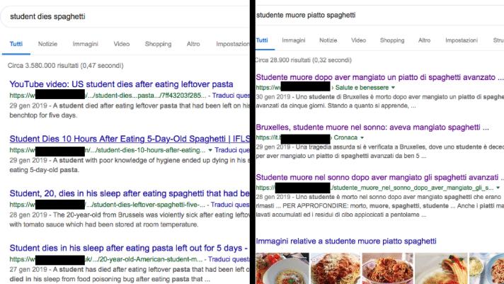 studente mangia spaghetti muore