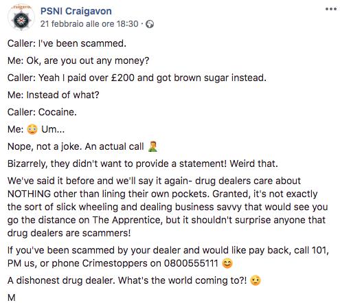zucchero cocaina denuncia