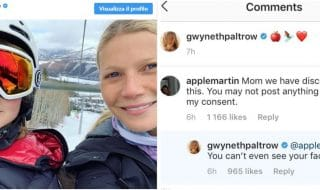 Gwyneth Paltrow polemica figlia instagram