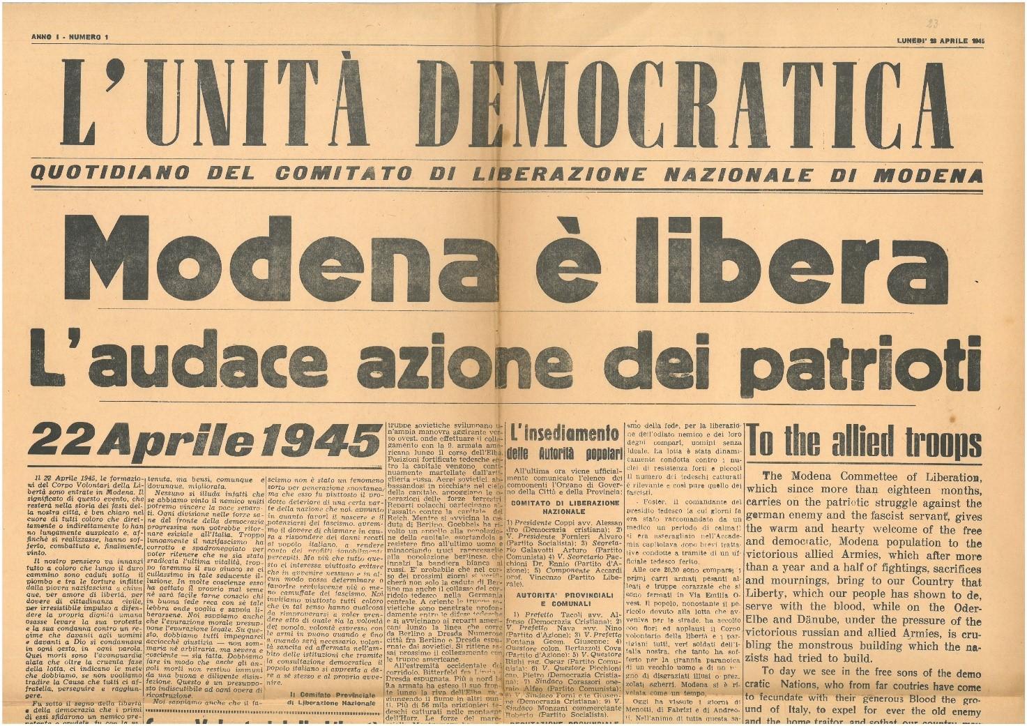 Modena Echi Resistenti