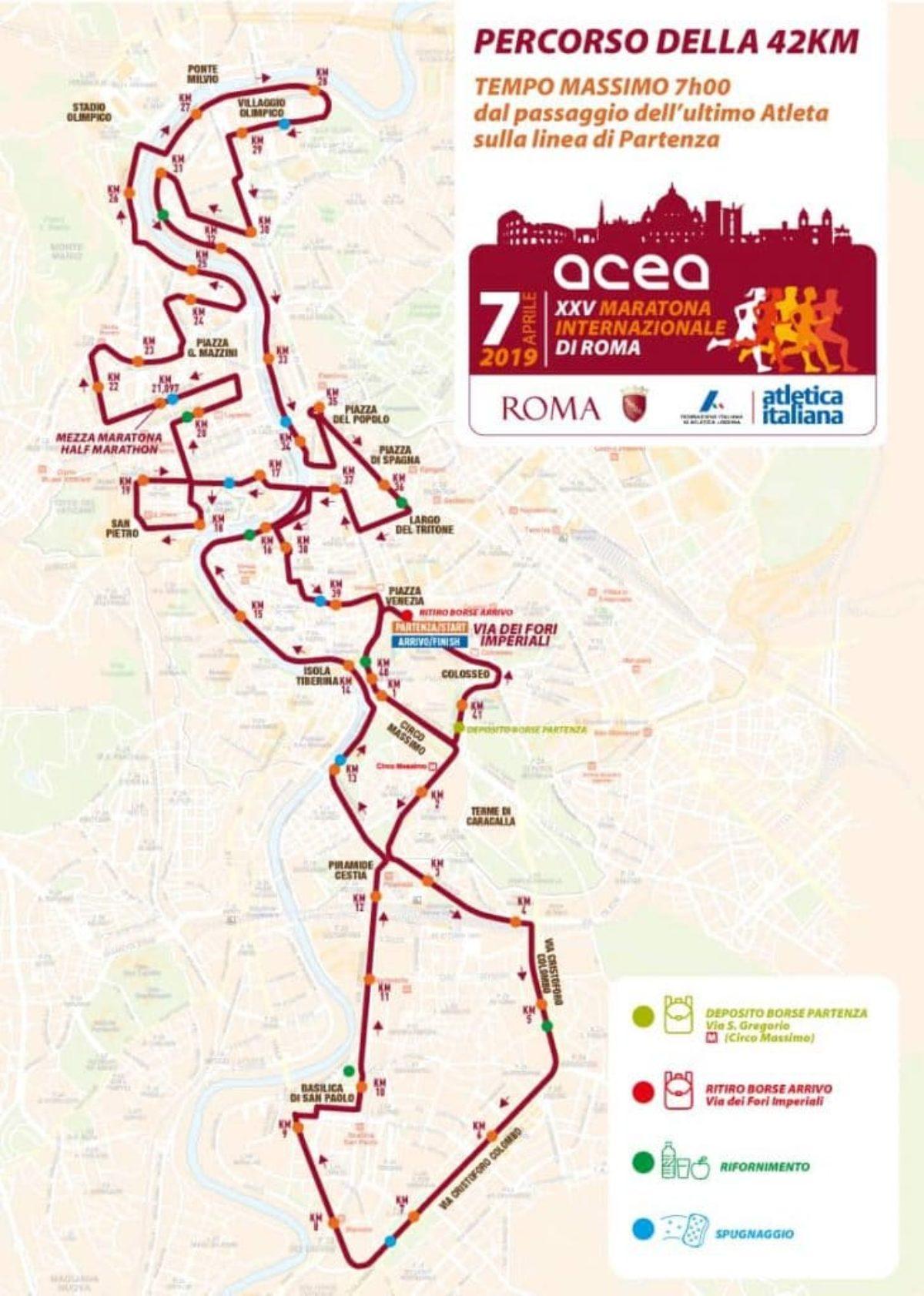Calendario Maratone Internazionali 2020.Maratona Roma 2019 Percorso Tracciato Cartina Partenza