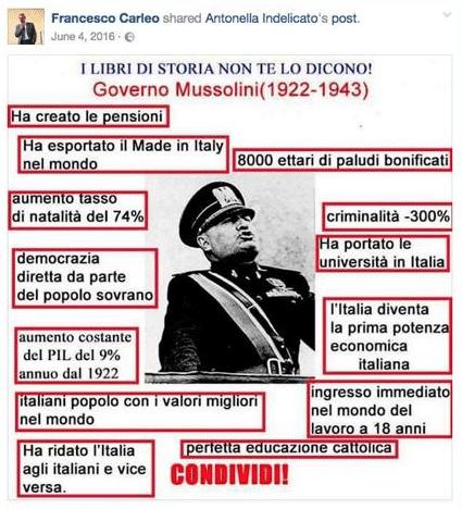 Risultati immagini per carleo post fascisti