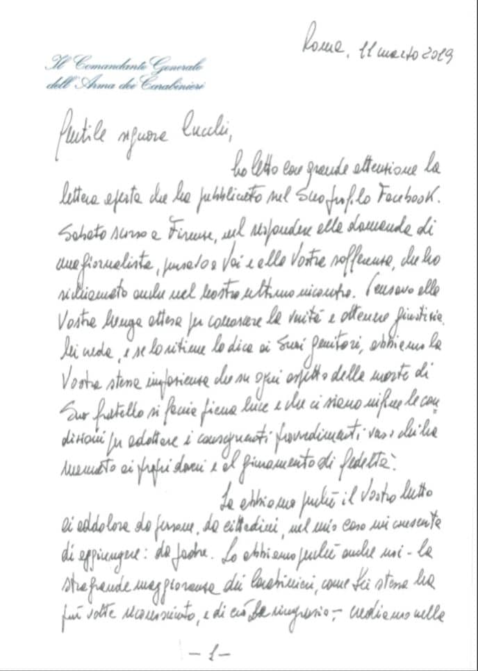 lettera a ilaria cucchi