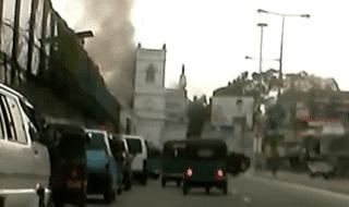 sri lanka esplosione chiesa video
