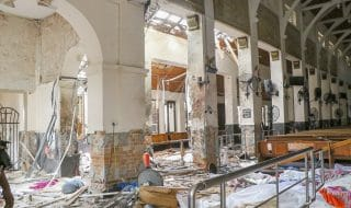 sri lanka video chiesa distrutta
