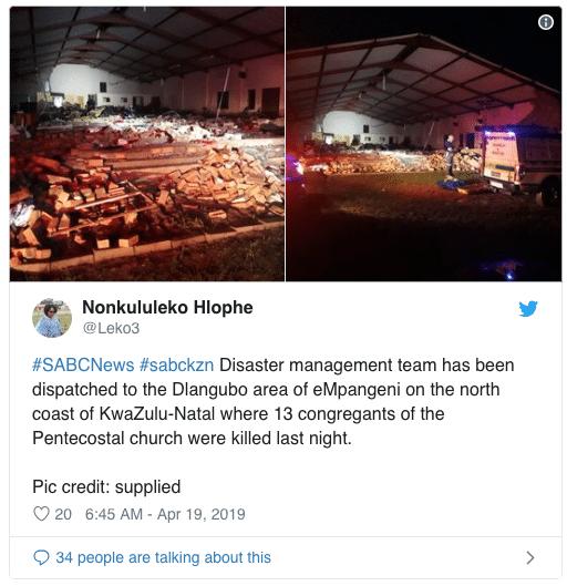 Crolla la parete della chiesa durante la messa, 13 morti