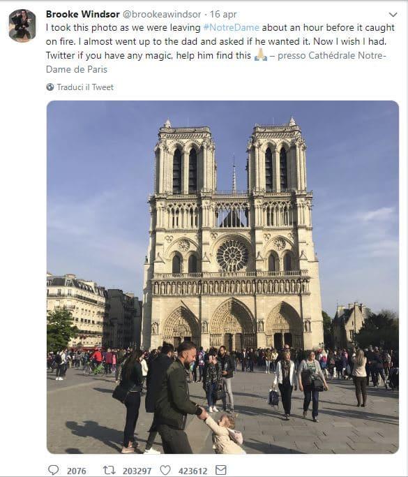 papà gioca Notre Dame
