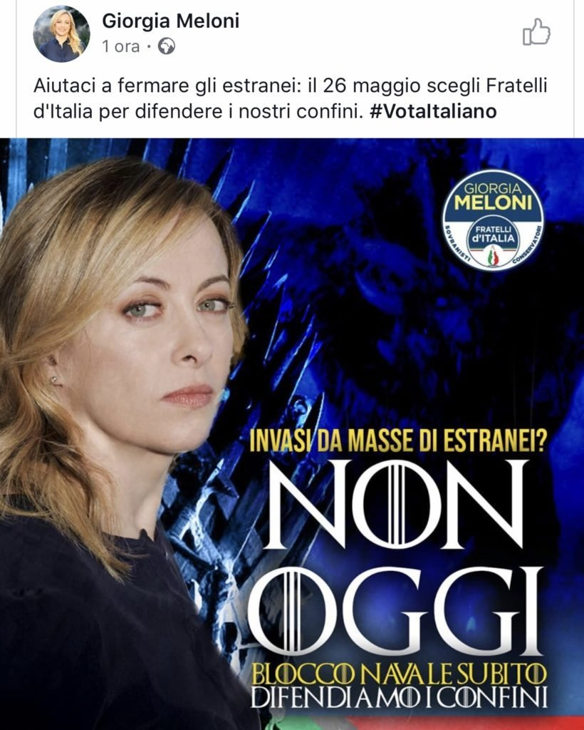 giorgia meloni game of thrones