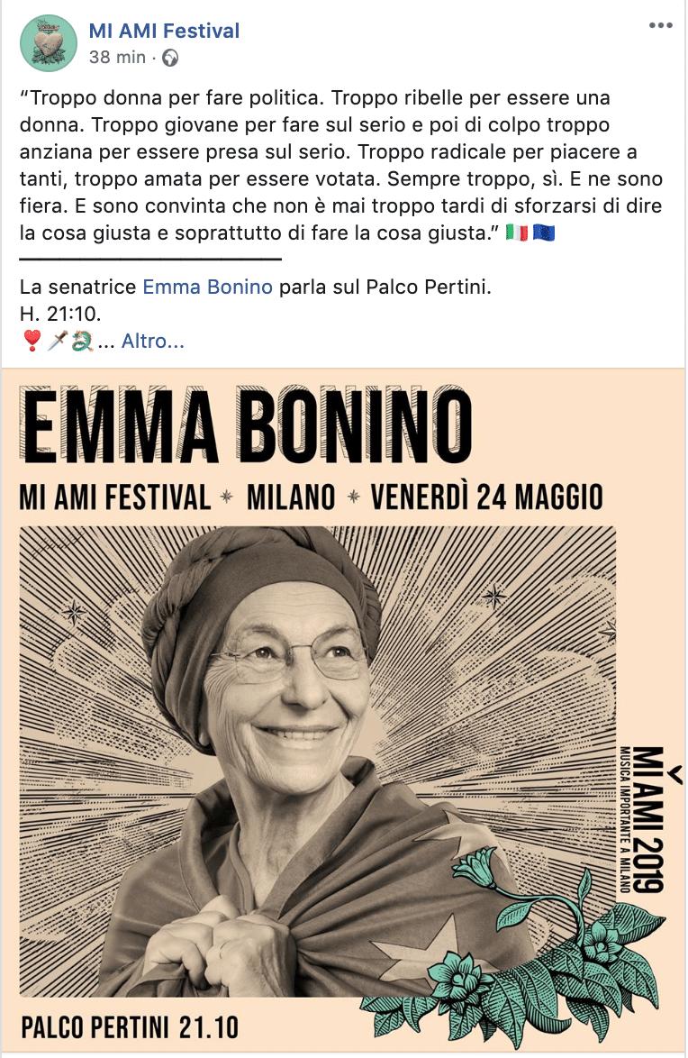 Emma Bonino Mi Ami comizio