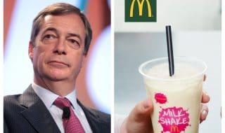 Nigel Farage milkshakes