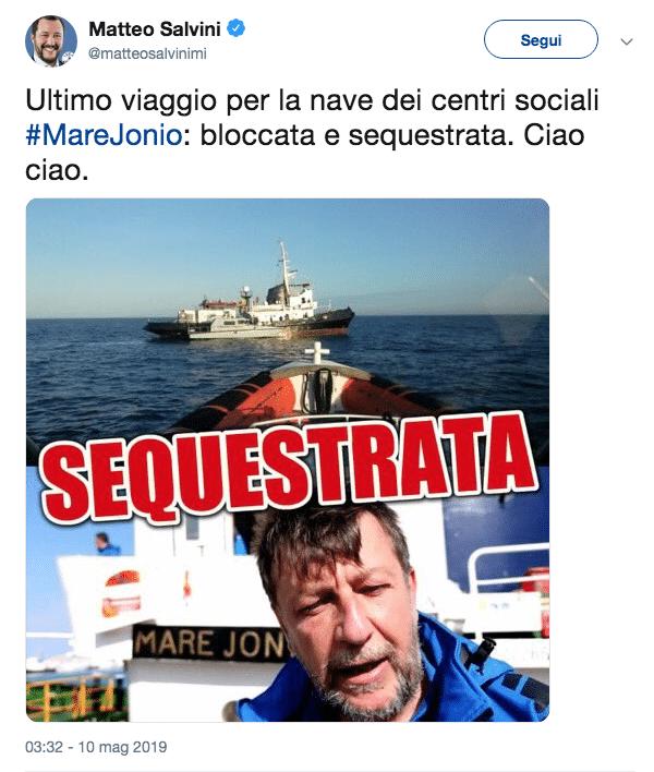 Mare Jonio Salvini