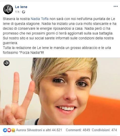Nadia Toffa Le Iene ultima puntata