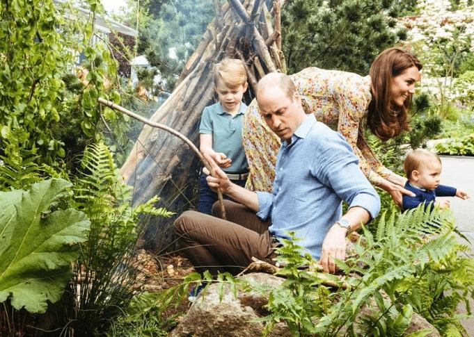 Royal family kate figli giardino