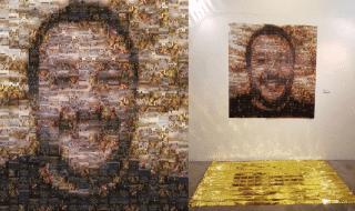 Salvini migranti Pisa mosaico