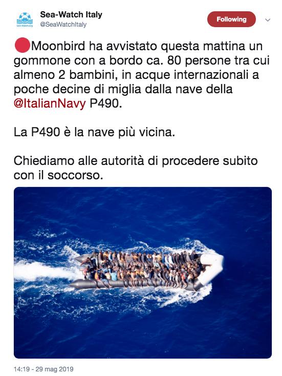 migranti sea watch denuncia nessuno soccorre 80 persone
