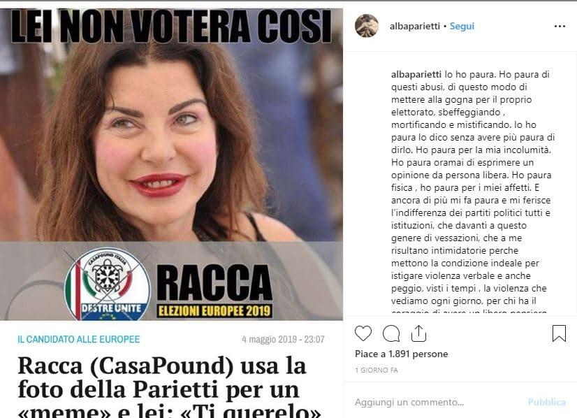 Alba Parietti Casapound