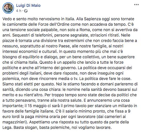 Di Maio facebook
