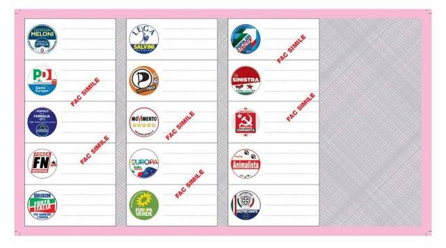 Schede Elettorali Europee 2019