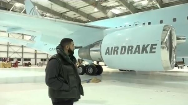 drake aereo privato