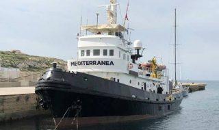 nave mare jonio attracca lampedusa
