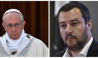 papa francesco contro salvini
