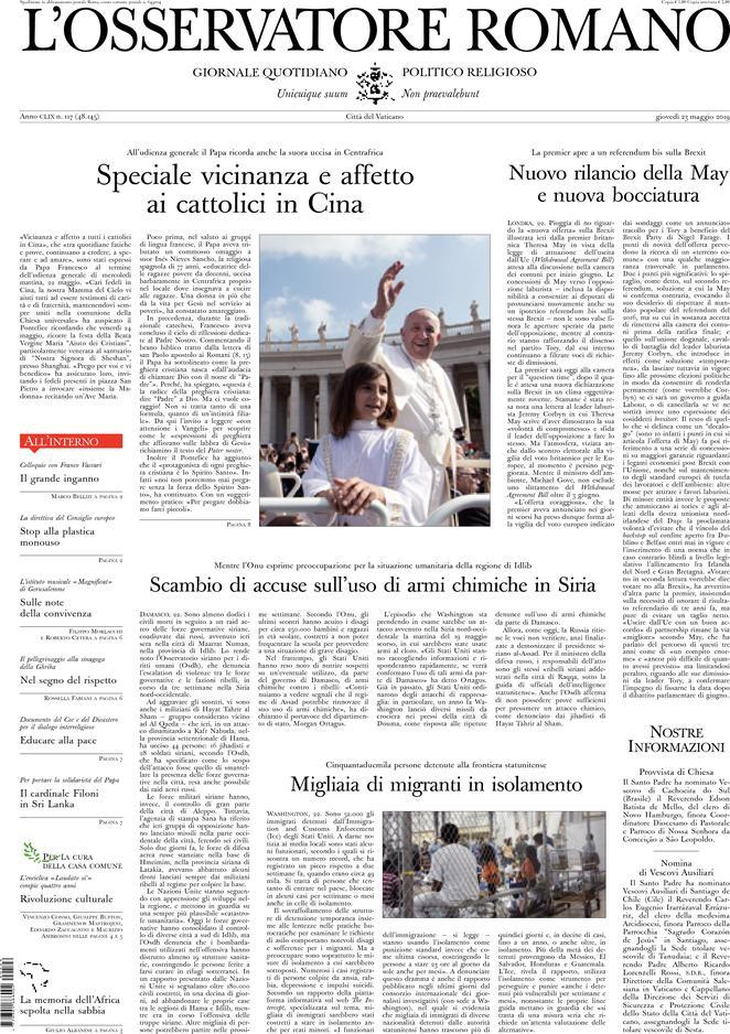 prime pagine quotidiani oggi