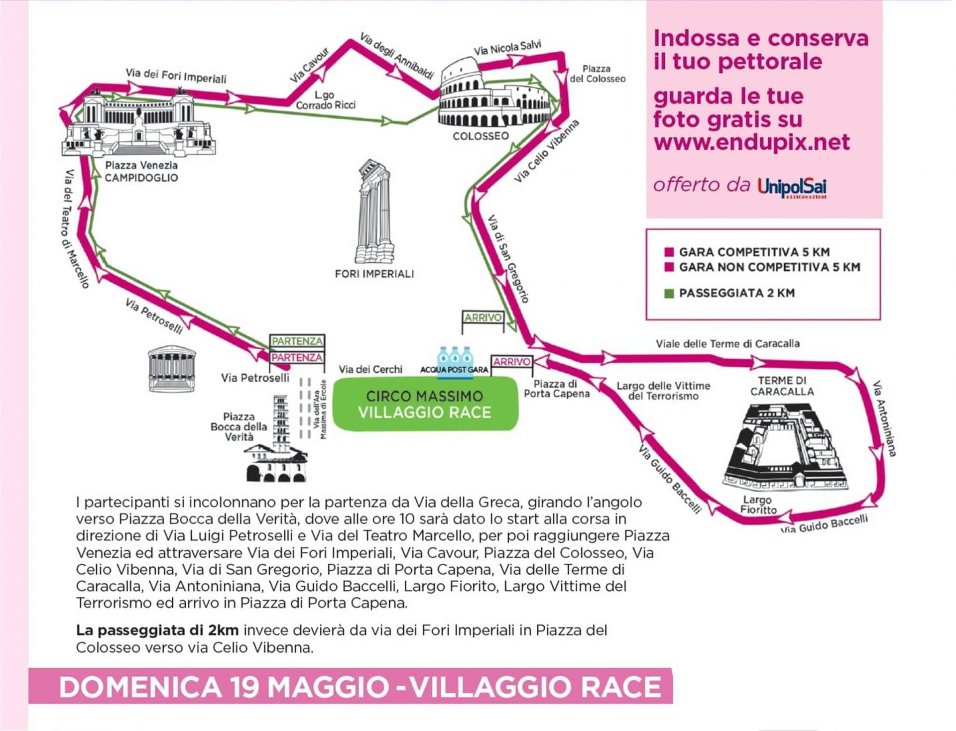 race for the cure 2019 percorso