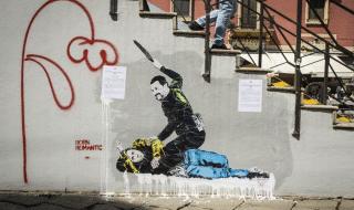 Salvini Di Maio murales Milano