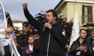Salvini striscioni Carpi