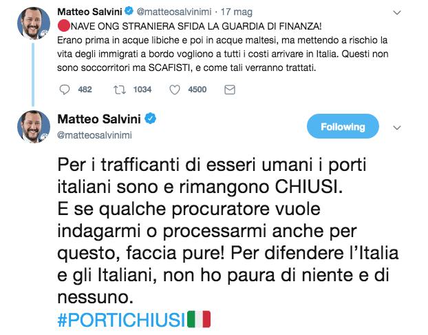 twitterr salvini