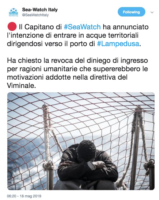 sea watch 18 maggio