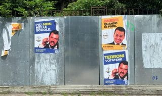 europee bologna manifesti salvini di maio