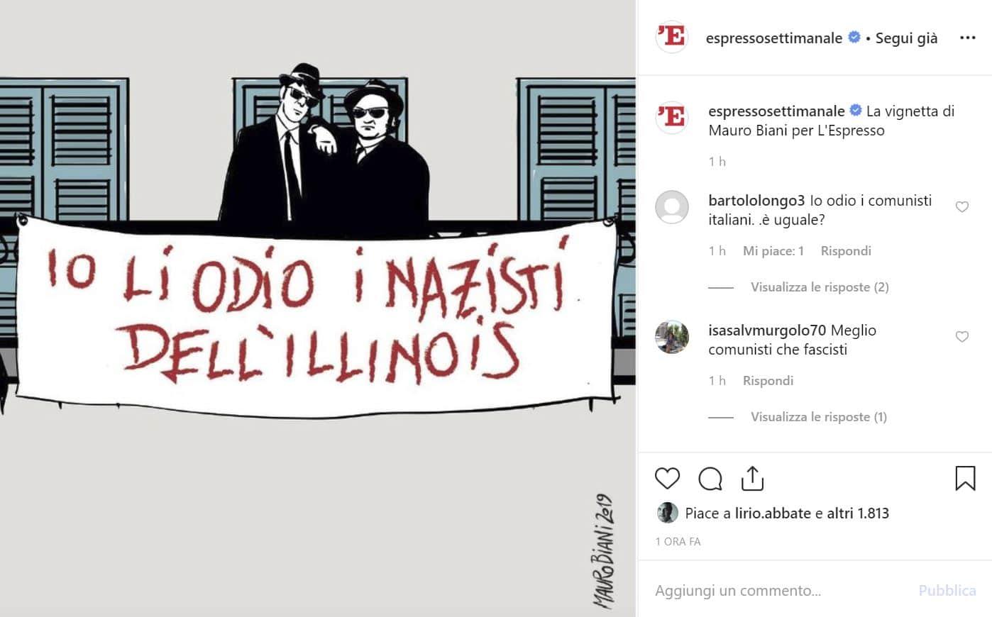 vignetta mauro biani nazisti illinois