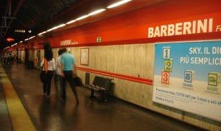 metro Barberini chiusa