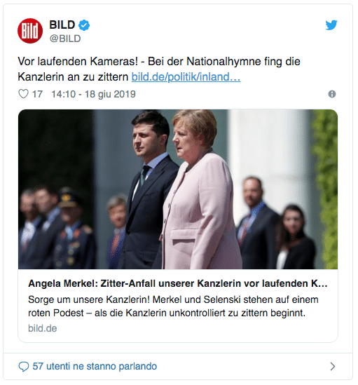 Il tremore di Angela Merkel che ha fatto il giro del mondo