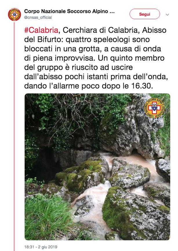speleologi abisso bifurto