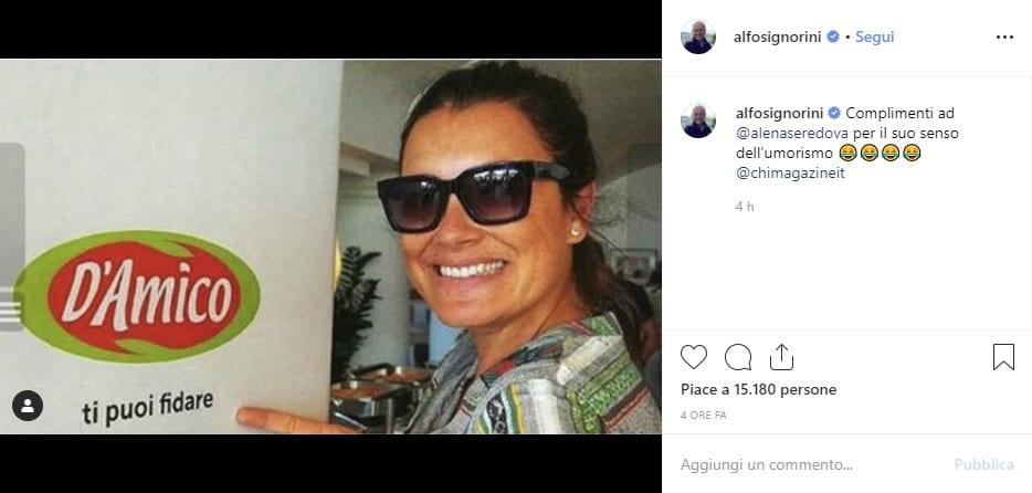 alena seredova instagram d'amico