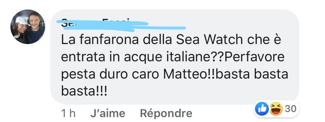 capitana sea watch insulti
