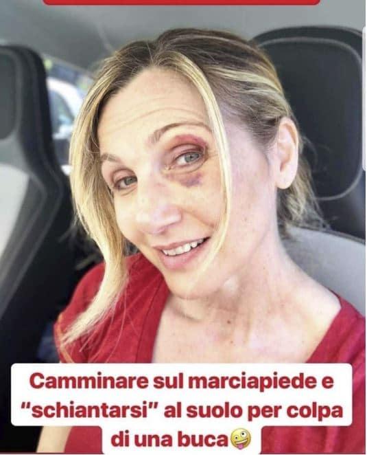 lorella cuccarini incidente