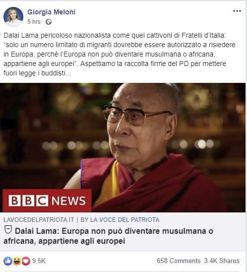 meloni dalai lama
