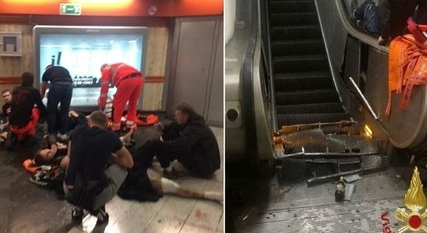 metro repubblica incidente