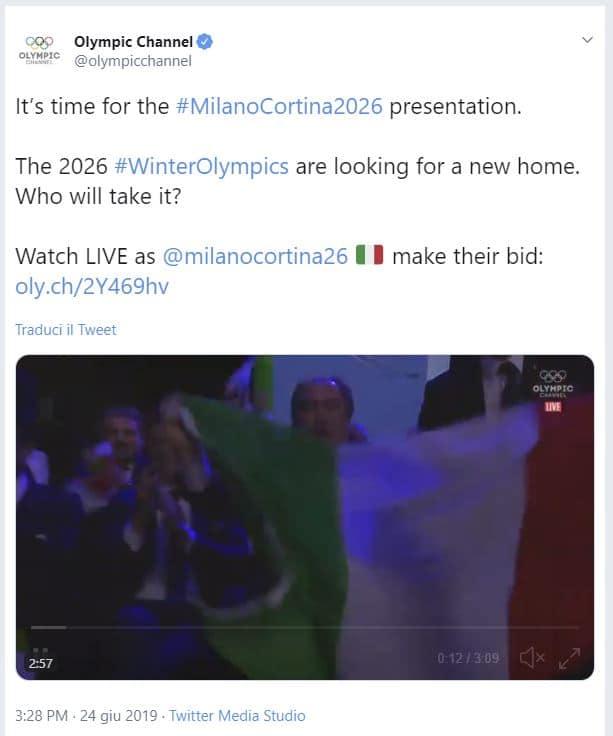 Video presentazione Olimpiadi Milano Cortina