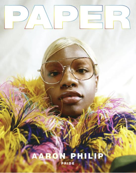 aaron philip copertina paper
