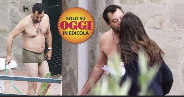 Salvini in mutande