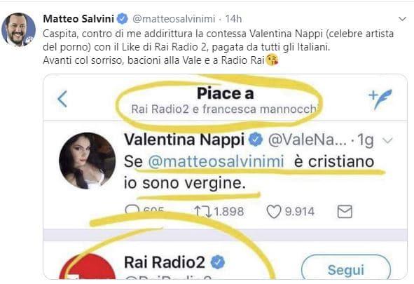 salvini valentina nappi rai radio 2