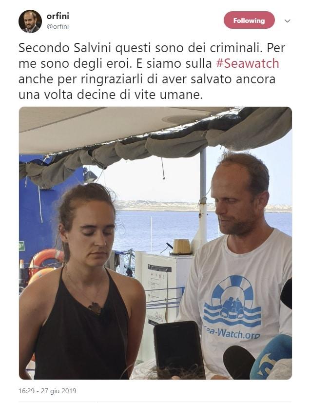 sea watch parlamentari orfini